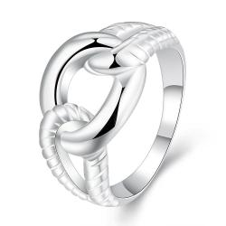 Vienna Jewelry Sterling Silver Intertwined Chain Classic Ring Size: 8 - Thumbnail 0