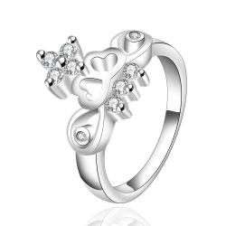 Vienna Jewelry Sterling Silver Abstract Floral Orchid Ring Size: 7 - Thumbnail 0