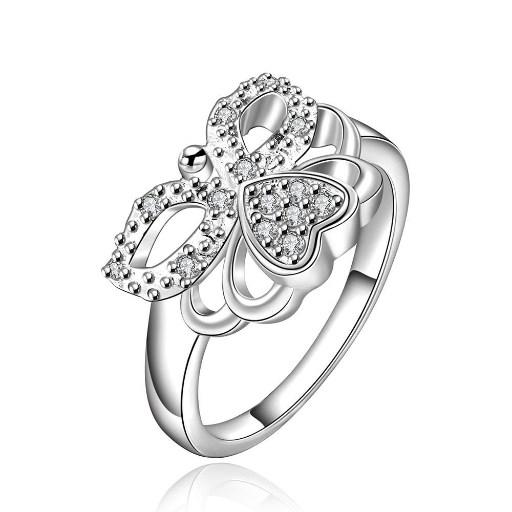 Vienna Jewelry Sterling Silver Intertwined Love Knot Ring Size: 8