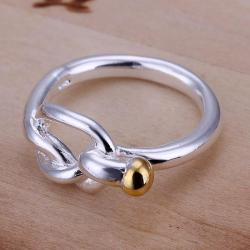 Vienna Jewelry Sterling Silver Knotted Petite Ring Size: 8 - Thumbnail 0