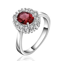 Vienna Jewelry Sterling Silver Ruby Red Jewels Covering Petite Ring Size: 8 - Thumbnail 0