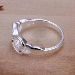Vienna Jewelry Sterling Silver Infinite Heart Design Petite Ring Size: 8 - Thumbnail 0
