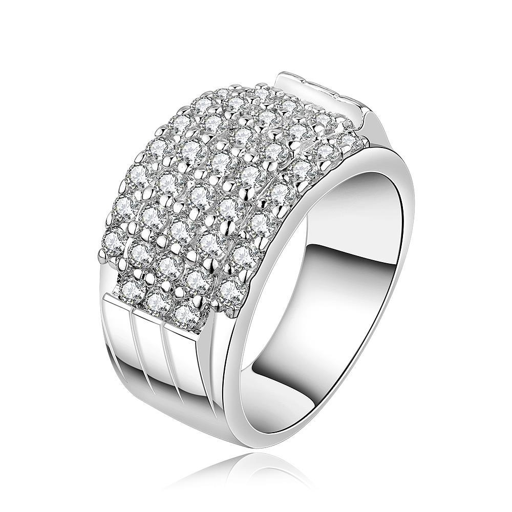 Vienna Jewelry Sterling Silver Multi-Jewels Covering Modern Ring Size: 7