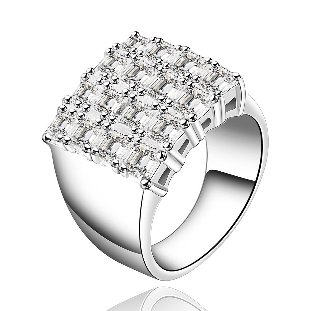 Vienna Jewelry Sterling Silver Jewels Square Emblem Petite Ring Size: 8