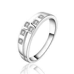 Vienna Jewelry Sterling Silver Petite Crystal Layering Petite Ring Size: 7 - Thumbnail 0