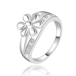 Vienna Jewelry Sterling Silver Petite Clover Ingrain Ring Size: 8 - Thumbnail 0
