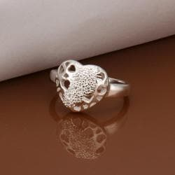 Vienna Jewelry Sterling Silver Laser Cut Circular Emblem Petite Ring Size: 8 - Thumbnail 0