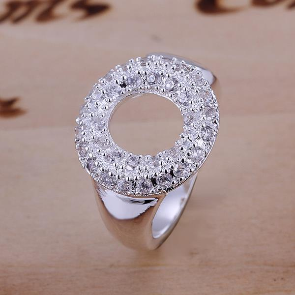 Vienna Jewelry Hollow Circular Emblem Petite Resizable Ring
