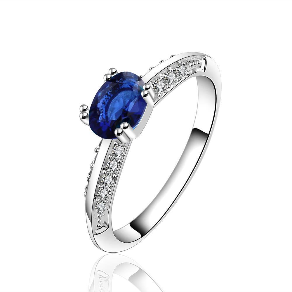 Vienna Jewelry Petite Dark Sapphire Classic Wedding Ring Size: 7