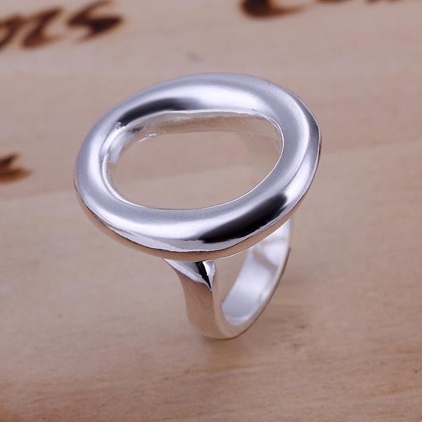 Vienna Jewelry Classic Circular Pendant Petite Resizable Ring