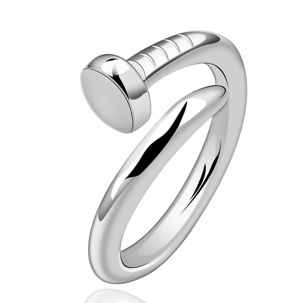 Vienna Jewelry Sterling Silver Twisted Nail Petite Ring Size: 8
