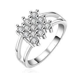 Vienna Jewelry Sterling Silver Multi Crystal Orchid Modern Ring Size: 8 - Thumbnail 0