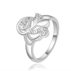 Vienna Jewelry Sterling Silver Hollow Butterfly Petite Ring Size: 8 - Thumbnail 0