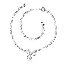Vienna Jewelry Trio-Clover Petals Petite Anklet - Thumbnail 0