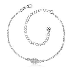 Vienna Jewelry Crystal Jewels Grape Vine Orchid Anklet - Thumbnail 0