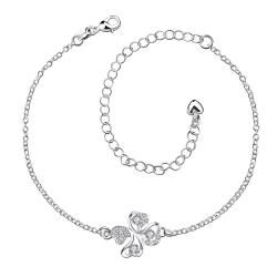 Vienna Jewelry Crystal Stone Butterfly Shaped Petite Anklet - Thumbnail 0