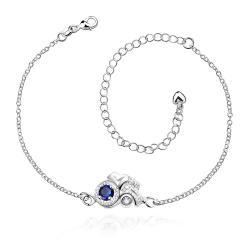 Vienna Jewelry Pruple Citrine Blossoming Gem Petite Anklet - Thumbnail 0