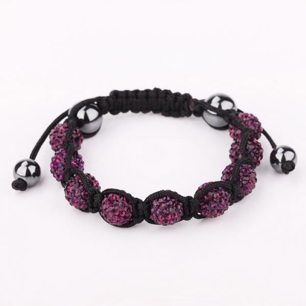 Vienna Jewelry Hand Made Eight Stone Swarovksi Elements Bracelet- Bright Lavender