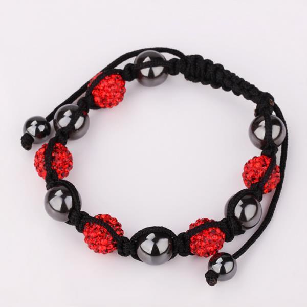 Vienna Jewelry Hand Made Swarovksi Elements Bracelet & Crystal Beads-Light Ruby