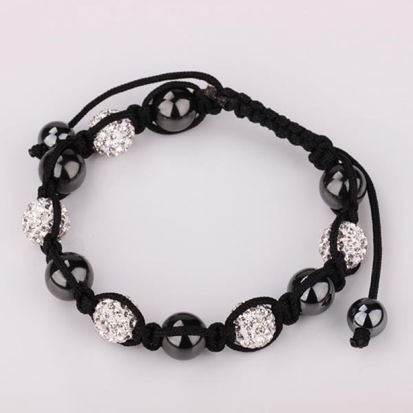 Vienna Jewelry Hand Made Swarovksi Elements Bracelet & Crystal Beads-Diamond