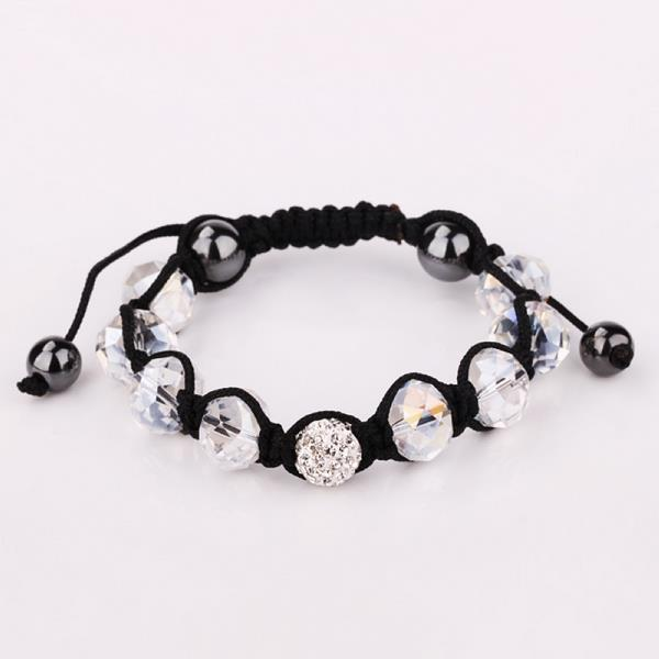 Vienna Jewelry Hand Made Swarovksi Elements Bracelet & Gemstone Beads-Ivory