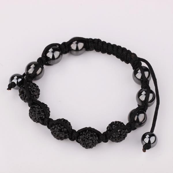 Vienna Jewelry Hand Made Five Stone Swarovksi Elements Bracelet-Onyx