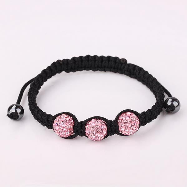 Vienna Jewelry Pave Swarovksi Elements Style Bracelet-Coral