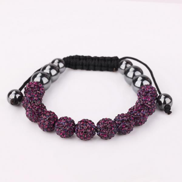 Vienna Jewelry Hand Made Eleven Stone Swarovksi Elements Bracelet- Vivid Dark Lavender