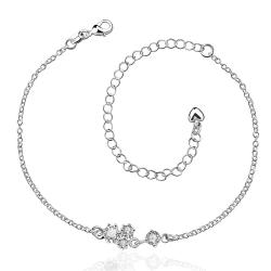 Vienna Jewelry Petite Mock Crystal Stone Butterfly Shaped Anklet - Thumbnail 0
