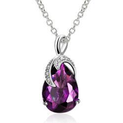 Vienna Jewelry Purple Citrine Grape Vine Classic Necklace - Thumbnail 0
