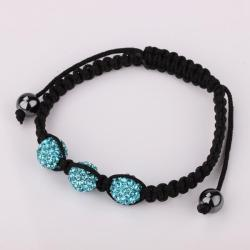 Vienna Jewelry Pave Swarovksi Elements Style Bracelet- Dark Saphire - Thumbnail 0