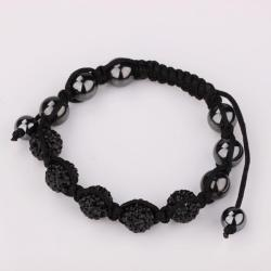 Vienna Jewelry Hand Made Five Stone Swarovksi Elements Bracelet-Onyx - Thumbnail 0