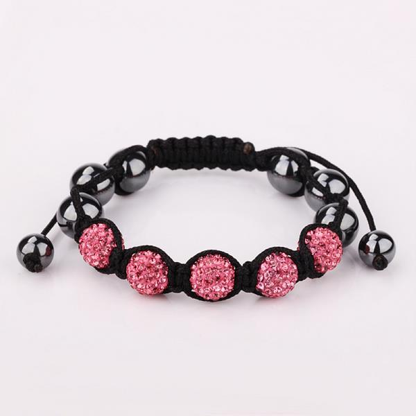 Vienna Jewelry Hand Made Five Stone Swarovksi Elements Bracelet-Royal Coral