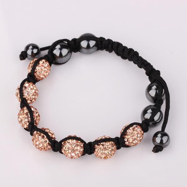Vienna Jewelry Hand Made Six Stone Swarovksi Elements Bracelet- Light Orange Citrine
