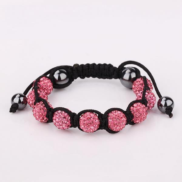 Vienna Jewelry Hand Made Eight Stone Swarovksi Elements Bracelet- Bright Coral