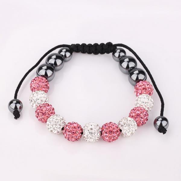 Vienna Jewelry Coral & Ivory Stone Hand Made Bracelet