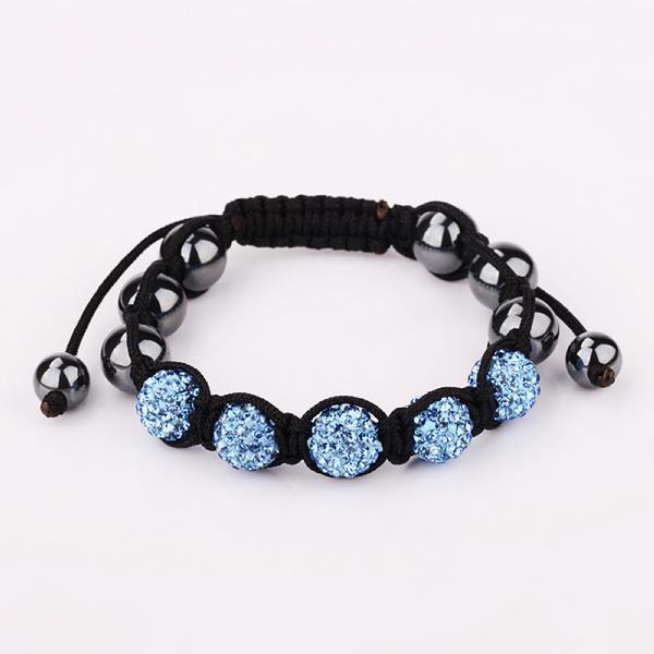 Vienna Jewelry Hand Made Five Stone Swarovksi Elements Bracelet-Royal Saphire