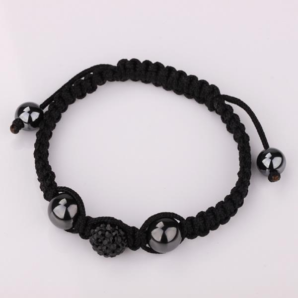 Vienna Jewelry Hand Made Swarovksi Elements Bracelet- Onyx