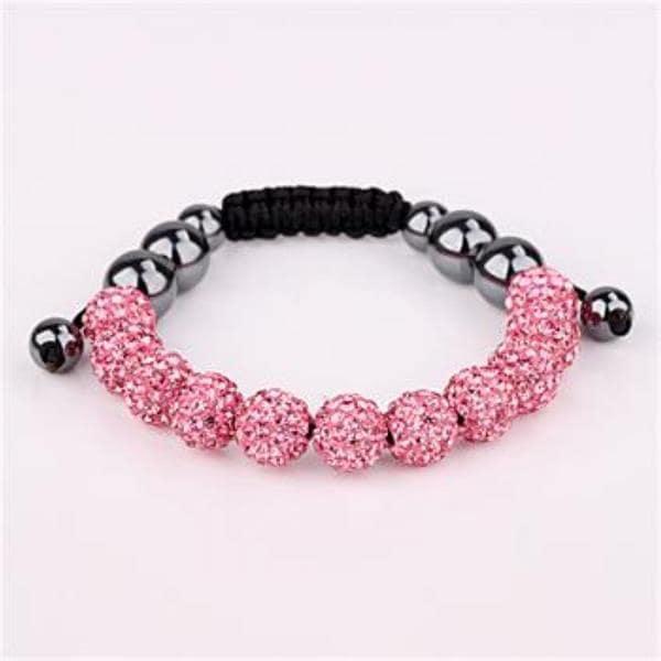 Vienna Jewelry Hand Made Eleven Stone Swarovksi Elements Bracelet- Vivid Light Coral