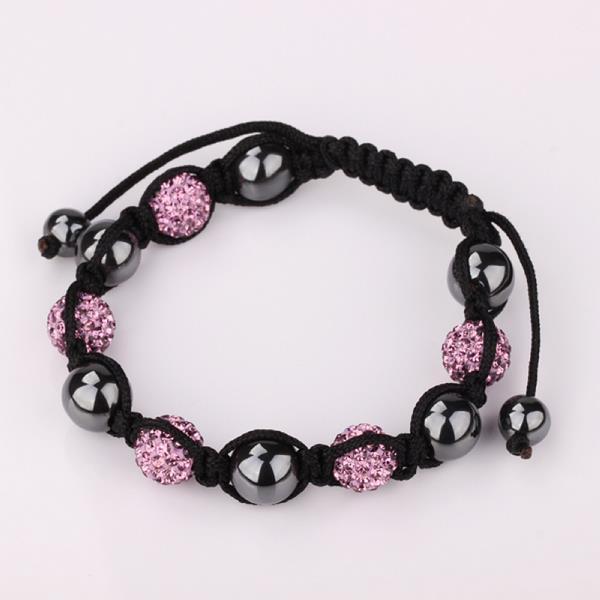 Vienna Jewelry Hand Made Swarovksi Elements Bracelet & Crystal Beads-Light Coral