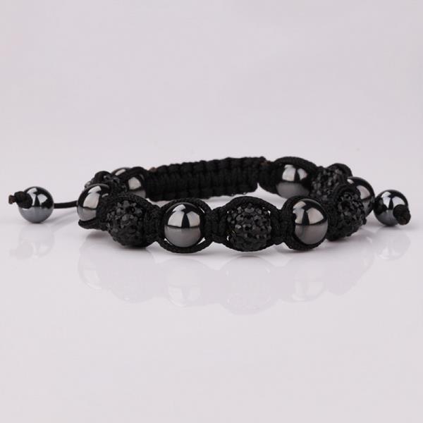 Vienna Jewelry Hand Made Swarovksi Elements Bracelet & Crystal Beads-Onyx