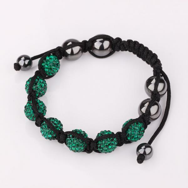 Vienna Jewelry Hand Made Six Stone Swarovksi Elements Bracelet- Dark Emerald