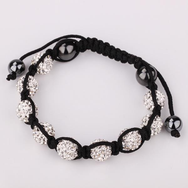 Vienna Jewelry Hand Made Eight Stone Swarovksi Elements Bracelet- Bright Crystal