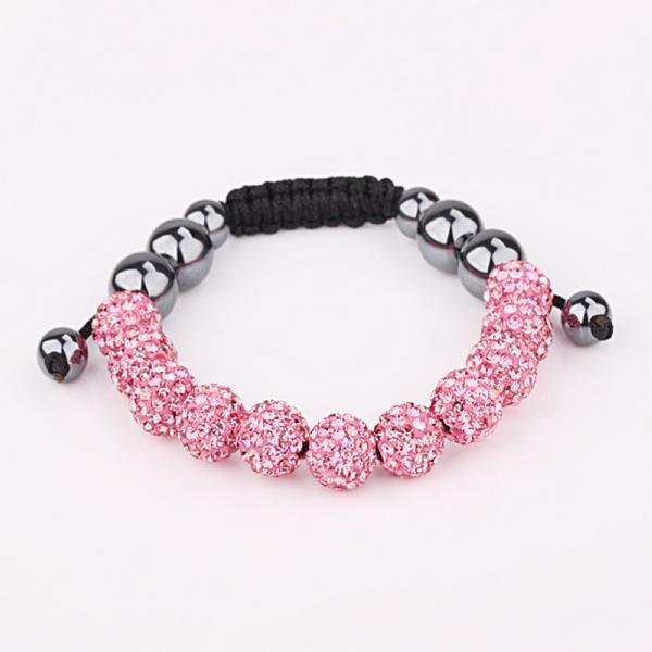 Vienna Jewelry Hand Made Eleven Stone Swarovksi Elements Bracelet- Vibrant Coral