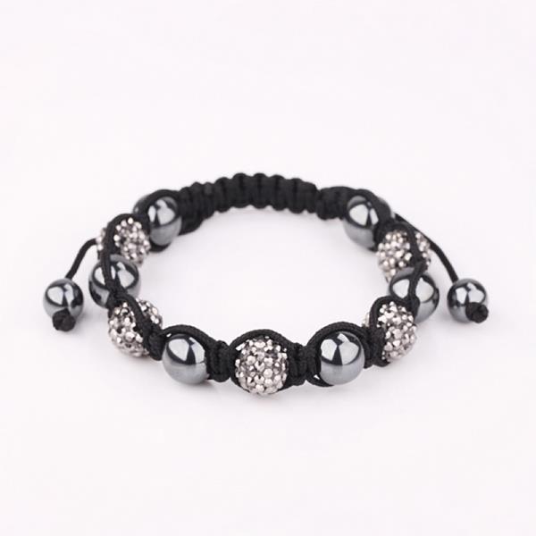 Vienna Jewelry Hand Made Bracelet Stone and Onyx Crystal