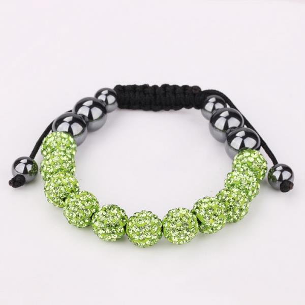 Vienna Jewelry Hand Made Eleven Stone Swarovksi Elements Bracelet- Vibrant Light Emerald