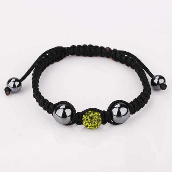 Vienna Jewelry Hand Made Swarovksi Elements Bracelet- Dark Emerald