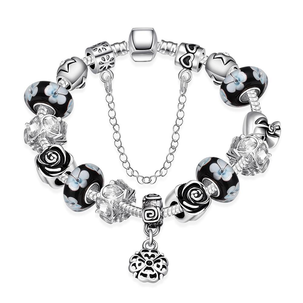 Vienna Jewelry Dark Floral Night Bracelet