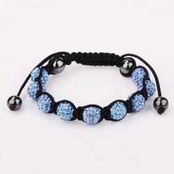 Vienna Jewelry Hand Made Eight Stone Swarovksi Elements Bracelet- Vibrant Saphire - Thumbnail 0