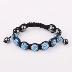 Vienna Jewelry Hand Made Six Stone Swarovksi Elements Bracelet- Bright Saphire - Thumbnail 0